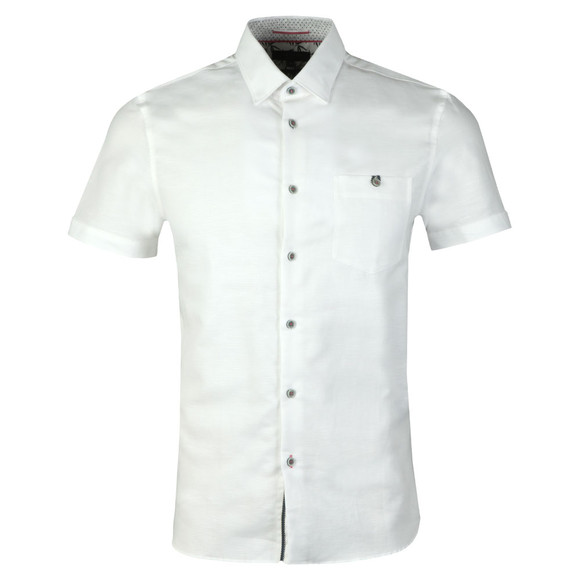 Ted Baker Mens White Peeze S/S Two Tone Shirt main image