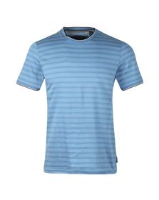 Ted Baker Mens Blue S/S Birdseye Stripe Tee