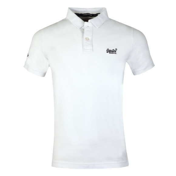 Superdry Mens White Classic Pique Polo main image