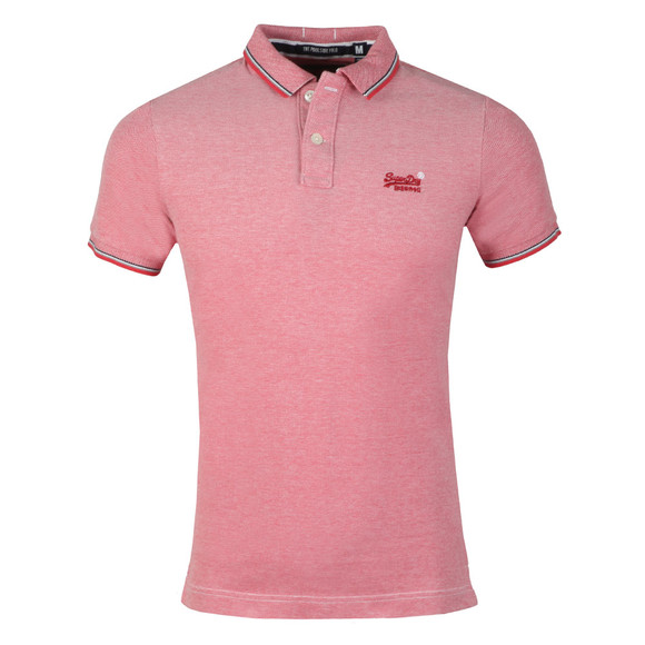 Superdry Mens Red S/S Poolside Polo main image