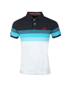 Superdry Mens Blue Classic SS Longbeach Polo