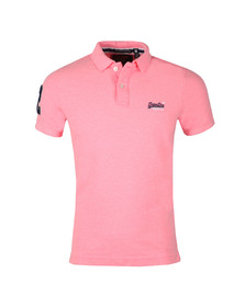 Superdry Mens Pink Classic Pique Polo