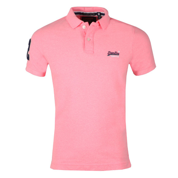 Superdry Mens Pink Classic Pique Polo main image