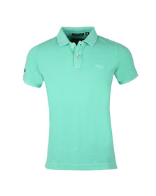 Superdry Mens Green S/S Vintage Destroy Pique Polo