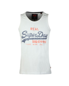 Superdry Mens White Vintage Logo Duo Entry Vest