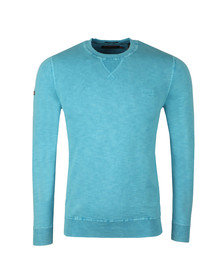 Superdry Mens Blue Garment Dye L.A. Crew Sweat