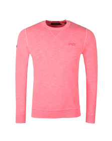 Superdry Mens Pink Garment Dye L.A. Crew Sweat