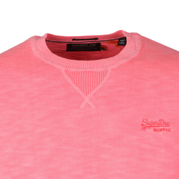 Superdry Mens Pink Garment Dye L.A. Crew Sweat main image