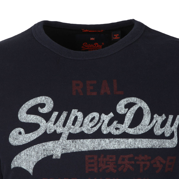 Superdry Mens Blue Vintage Logo Duo Liteweight Sweat main image