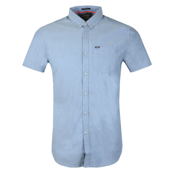 Superdry Mens Blue ULT Univsty SS Shirt main image