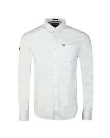 Superdry Mens White Ult L/S Pinpoint Shirt