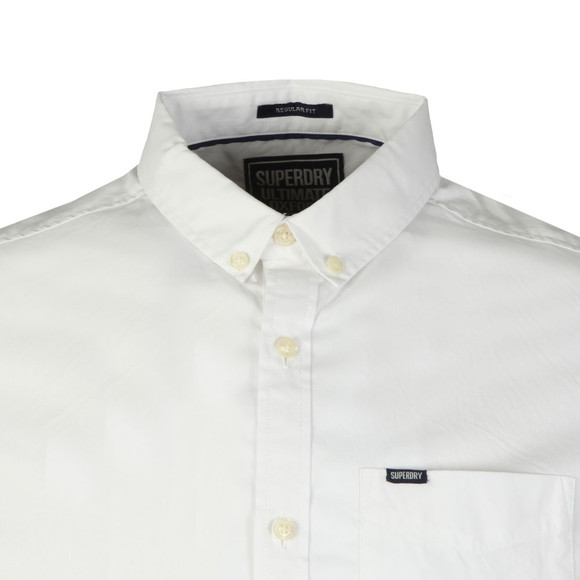 Superdry Mens White Ult L/S Pinpoint Shirt main image