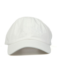 BOSS Mens White Casual Fritz Cap