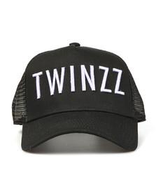 Twinzz Mens Black Mesh Trucker Cap