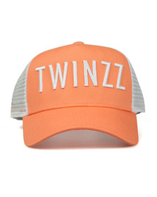 Twinzz Mens Orange Mesh Trucker Cap