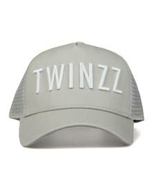 Twinzz Mens Grey Mesh Trucker Cap
