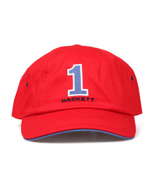 Hackett Mens Red Number Baseball Cap
