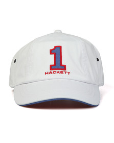 Hackett Mens Off-white Number Baseball Cap