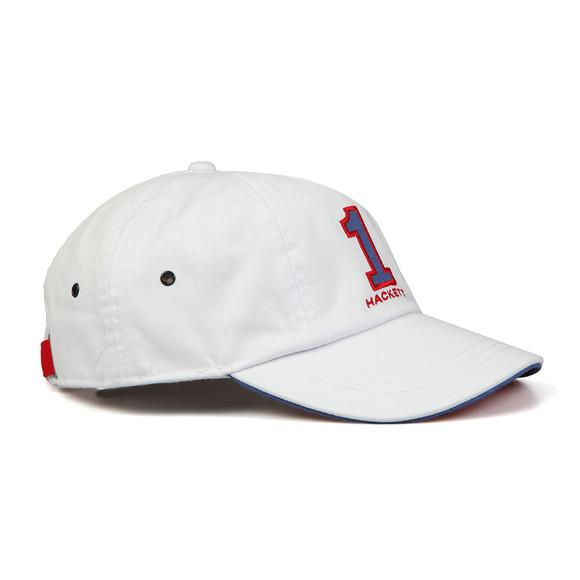 Hackett Mens Off-White Number Baseball Cap main image