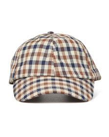 Aquascutum Mens Brown Abbott Club Check Cap