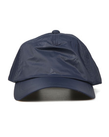 Emporio Armani Mens Blue Small Logo Nylon Cap