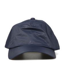 Emporio Armani Mens Blue Small Logo Nylon Cap