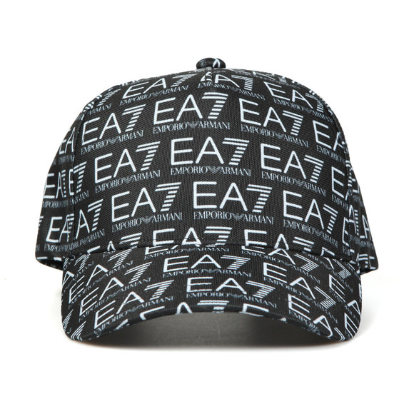 EA7 Emporio Armani Mens Black Train Monogram Cap main image