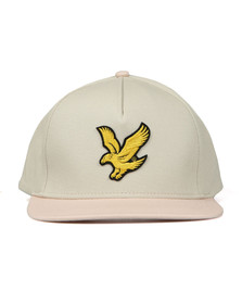Lyle and Scott Mens Beige Colour Block Cap