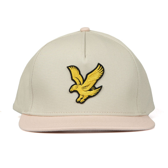 Lyle and Scott Mens Beige Colour Block Cap main image