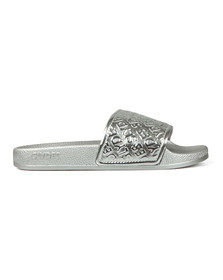 Slydes Womens Silver Chance Slides