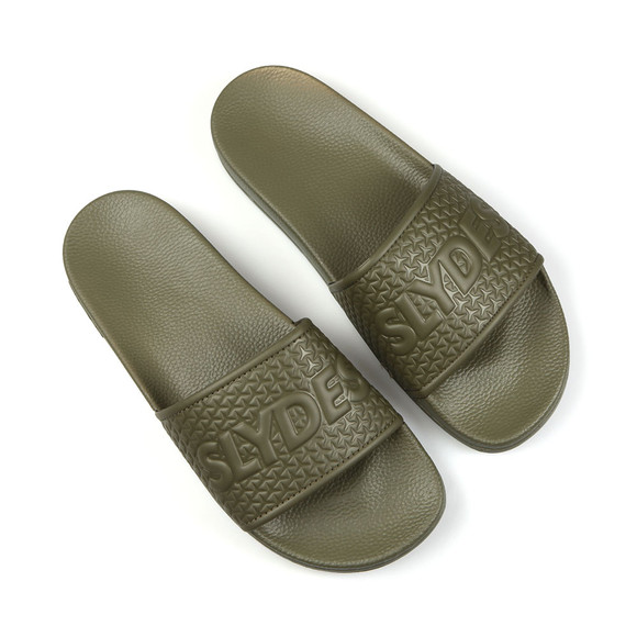 Slydes Mens Green Cali Slides main image