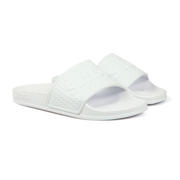 Slydes Mens White Cali Slides main image