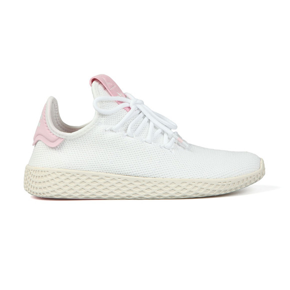 Adidas Originals Womens White Pharrell Williams Tennis HU Trainer main image