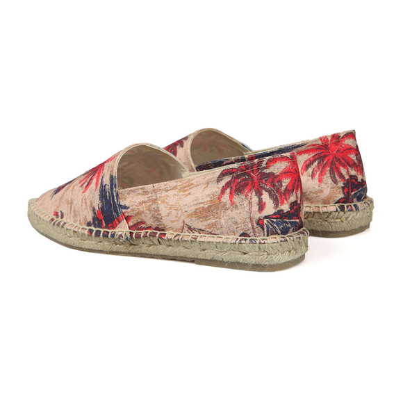 H By Hudson Mens Beige Blake Palm Print Canvas main image