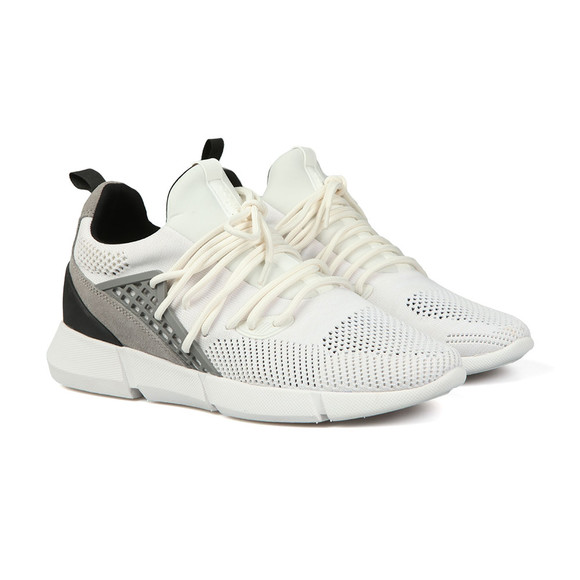 Cortica Mens White Rapide Knit Trainers main image