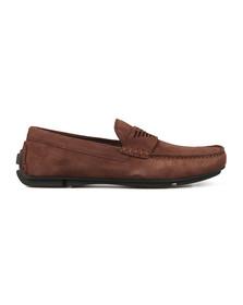 Emporio Armani Mens Red X4B113 Driver Shoe