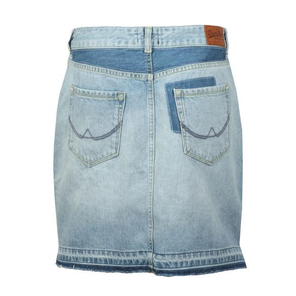 Superdry Womens Blue Denim Mini Skirt main image