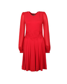Michael Kors Womens Red Elev Lace Combo Dress