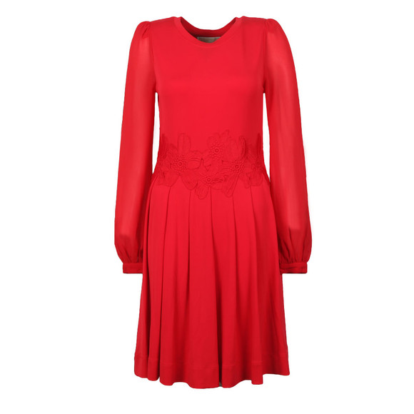 Michael Kors Womens Red Elev Lace Combo Dress main image