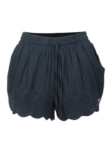 Superdry Womens Blue Jenna Embroidered Edge Short