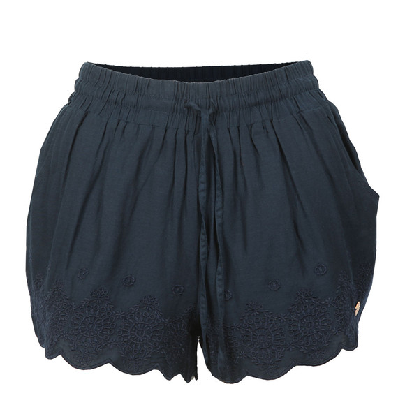 Superdry Womens Blue Jenna Embroidered Edge Short main image