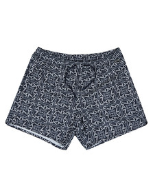 EA7 Emporio Armani Mens Blue Sea World Printed Swim Shorts