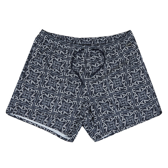 EA7 Emporio Armani Mens Blue Sea World Printed Swim Shorts main image