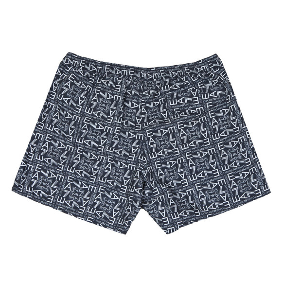 EA7 Emporio Armani Mens Blue Sea World Printed Swim Shorts