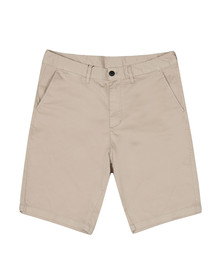 Emporio Armani Mens Beige Small Eagle Chino Short