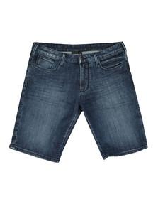 Emporio Armani Mens Blue Denim Short