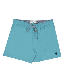 Ted Baker Mens Blue Plain Swim Short