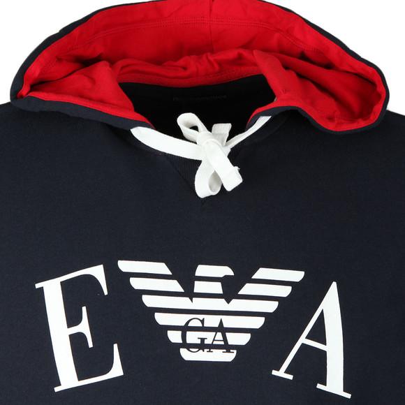 Emporio Armani Mens Blue Large Logo Overhead Hoody main image