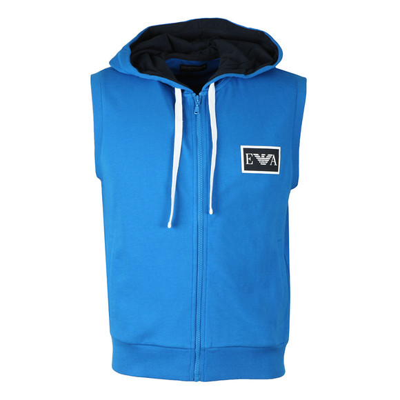 Emporio Armani Mens Blue Full Zip Sleeveless Hoody main image