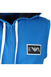 Emporio Armani Mens Blue Full Zip Sleeveless Hoody